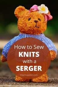 How to sew knits with a serger