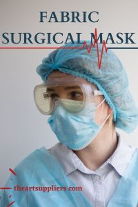 Which fabric is used for surgical masks