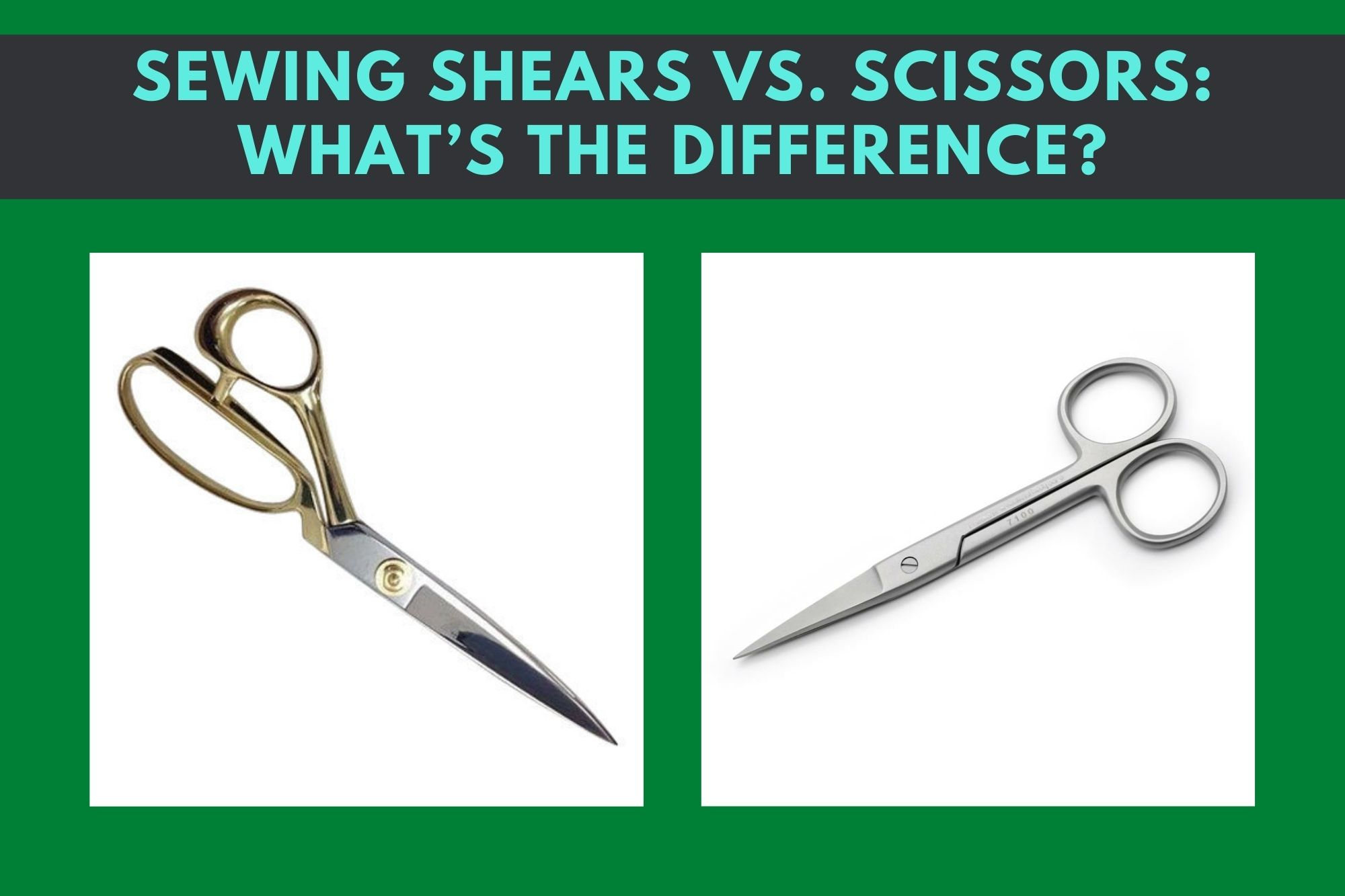 Sewing Shears Vs. Scissors What Is A Scissor? Pros And Cons Of Using Scissors What Is A Sewing Shear? Pros And Cons Of Using Sewing Shears What Is The Difference Between The Structure Of Sewing Shears And Scissors? What Is The Difference Between The Sizes of Sewing Shears And Scissors? What Happens If You Use Sewing Shears In Household Use?