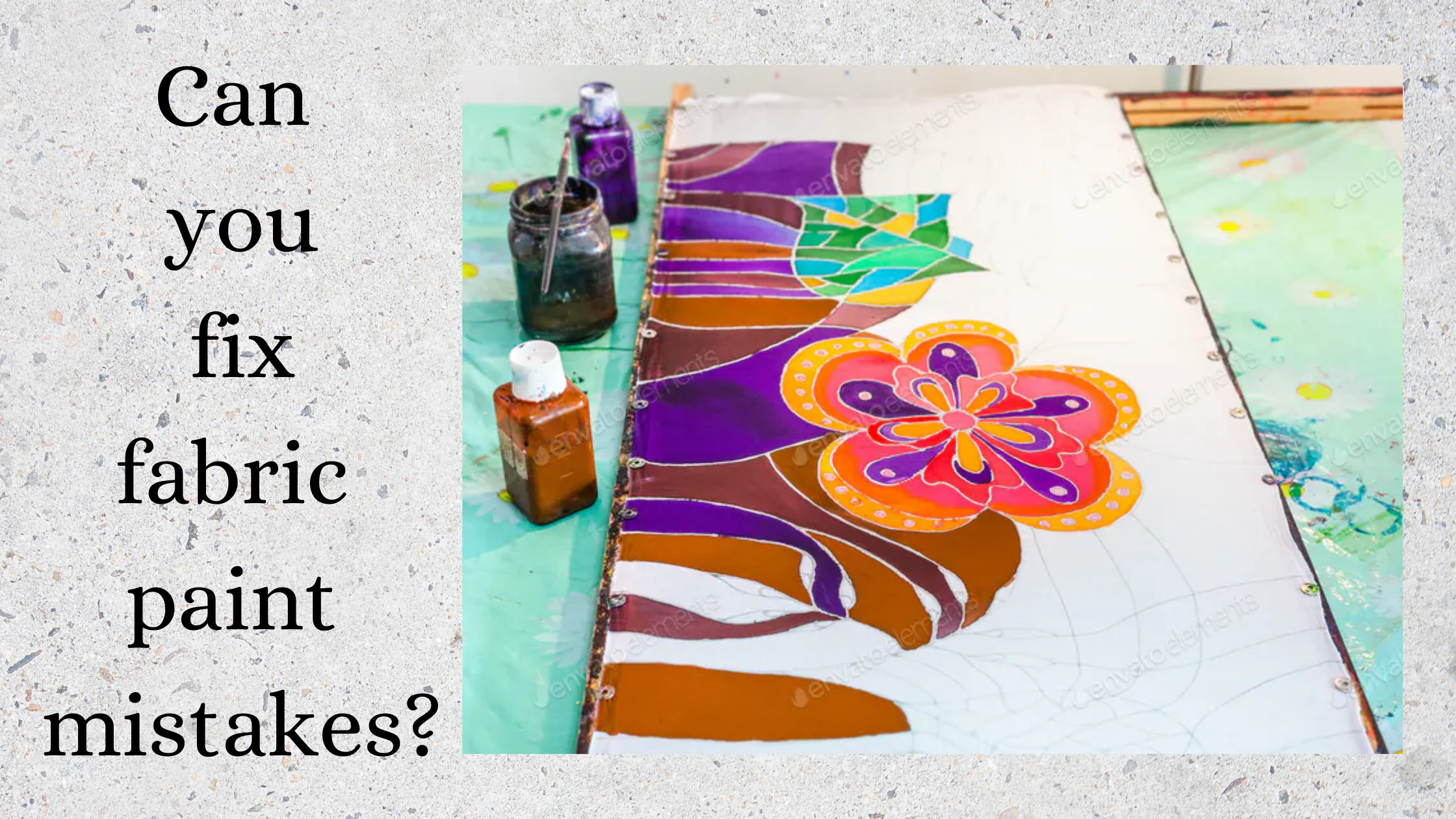how to fix fabric paint mistakes