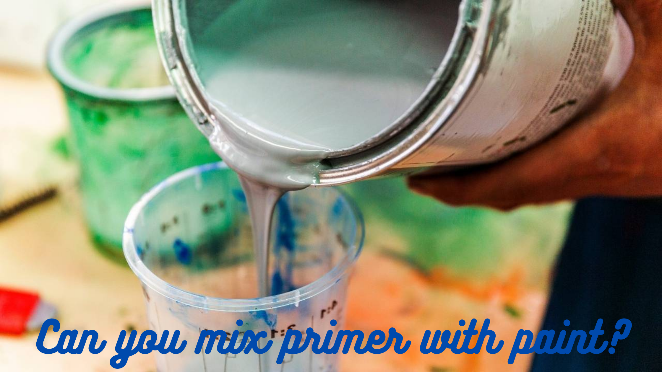 Can you mix primer with paint