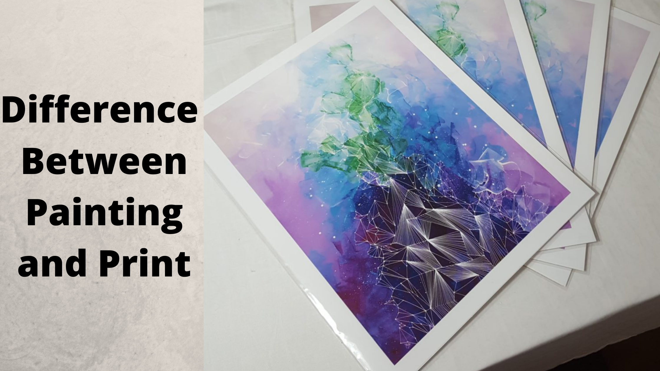 how can i tell a print from an original watercolor, difference between painting and print