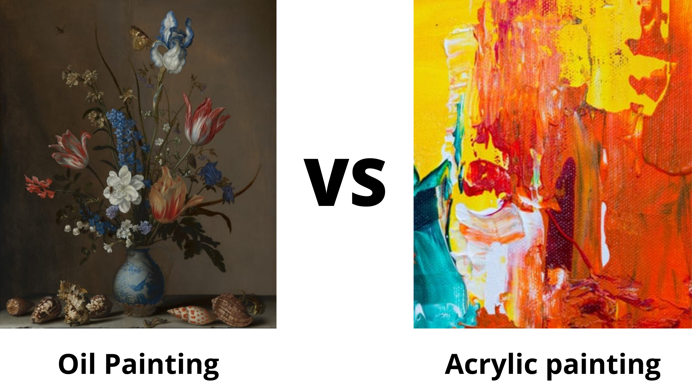 How to tell the difference between acrylic and oil painting?