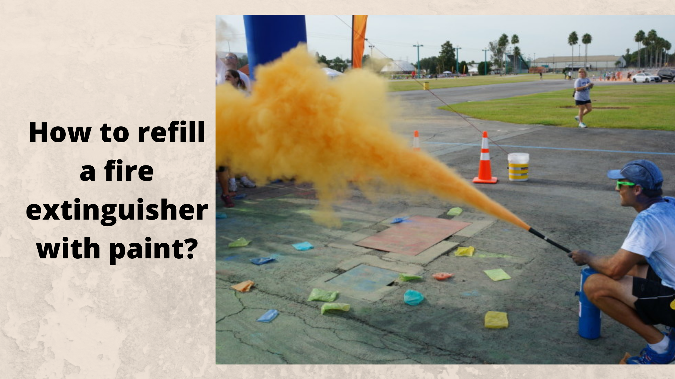 how to refill a fire extinguisher with paint