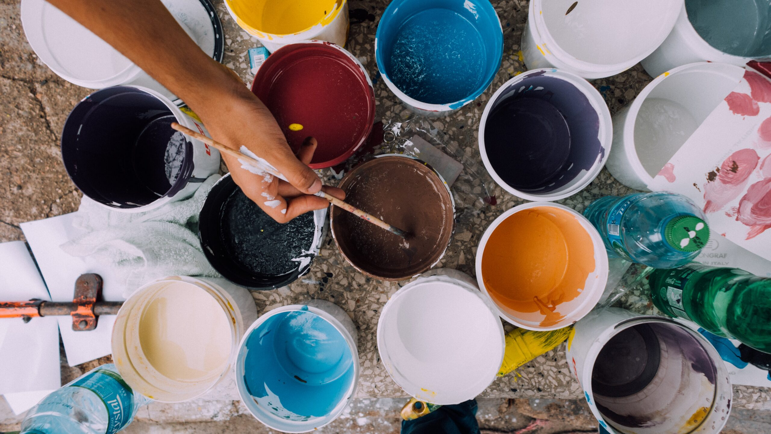 how long to stir paint